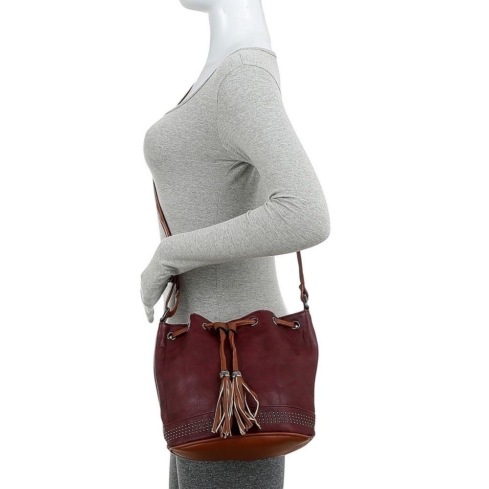 5dda2ed9d Bolsa Saco Com Franja Tiracolo Transversal Feminina - R  39