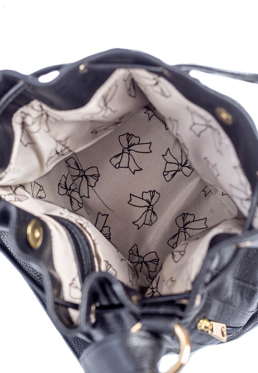 83259be40 bolsa saco couro legítimo feminina brilho da pele preta - un. Carregando  zoom.
