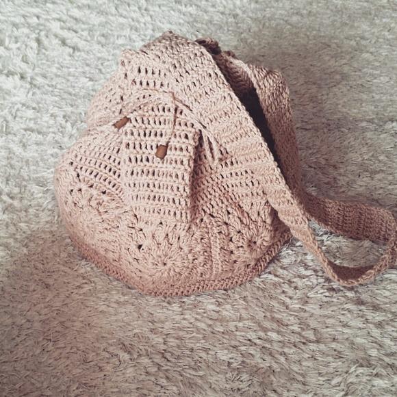 a097e47dd Bolsa Saco Crochê - R$ 199,00 em Mercado Livre