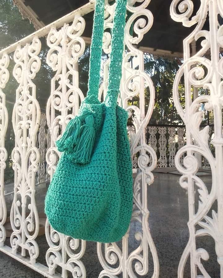 675ba8c6f Bolsa Saco Crochê - R$ 100,00 em Mercado Livre