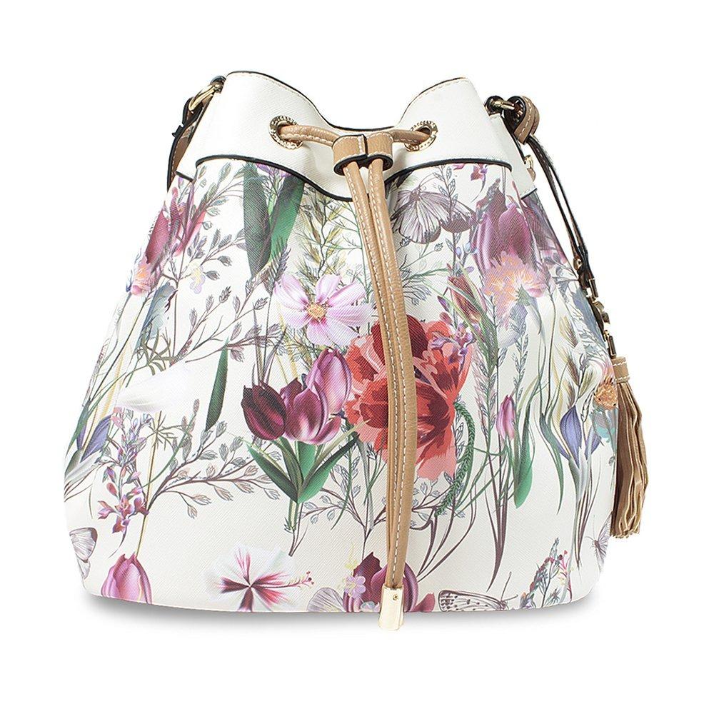 e16ac2f624 bolsa saco de ombro feminina wj acessórios floral 44570. Carregando zoom.