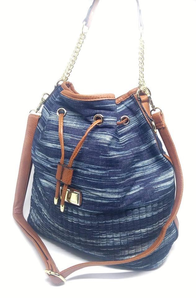 da2788010 bolsa saco femin grande jeans azul alça corrente transversal. Carregando  zoom.