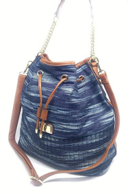 70eeb96ce Bolsa Saco Jeans Bolsas - Bolsas Femininas Azul no Mercado Livre Brasil