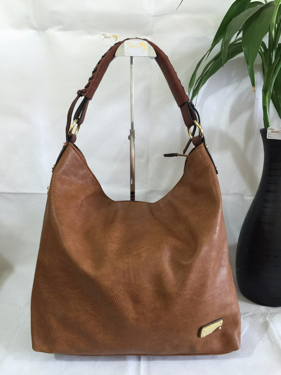 Bolsa De Couro Tipo Saco : Bolsa saco feminina importada de ombro em couro colecao