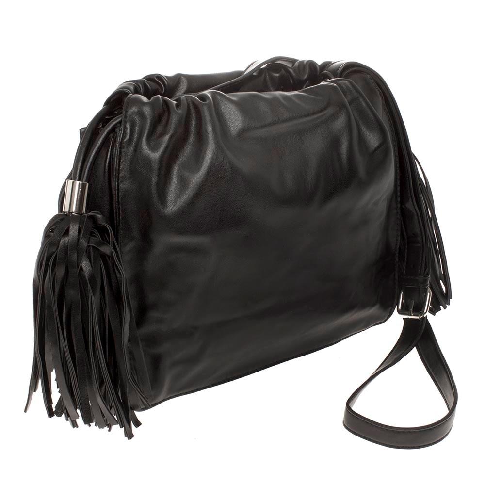 cdcf173e3 Bolsa Saco Preta Franjas Seanite - R$ 134,90 em Mercado Livre