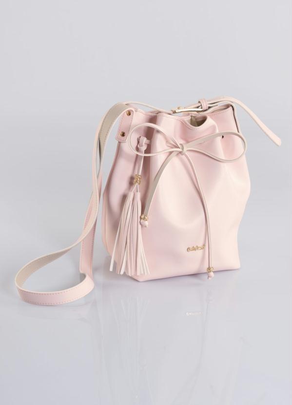 8ac0cc0cc Bolsa Saco Rosa Quintess Com Amarração - R$ 83,20 em Mercado Livre