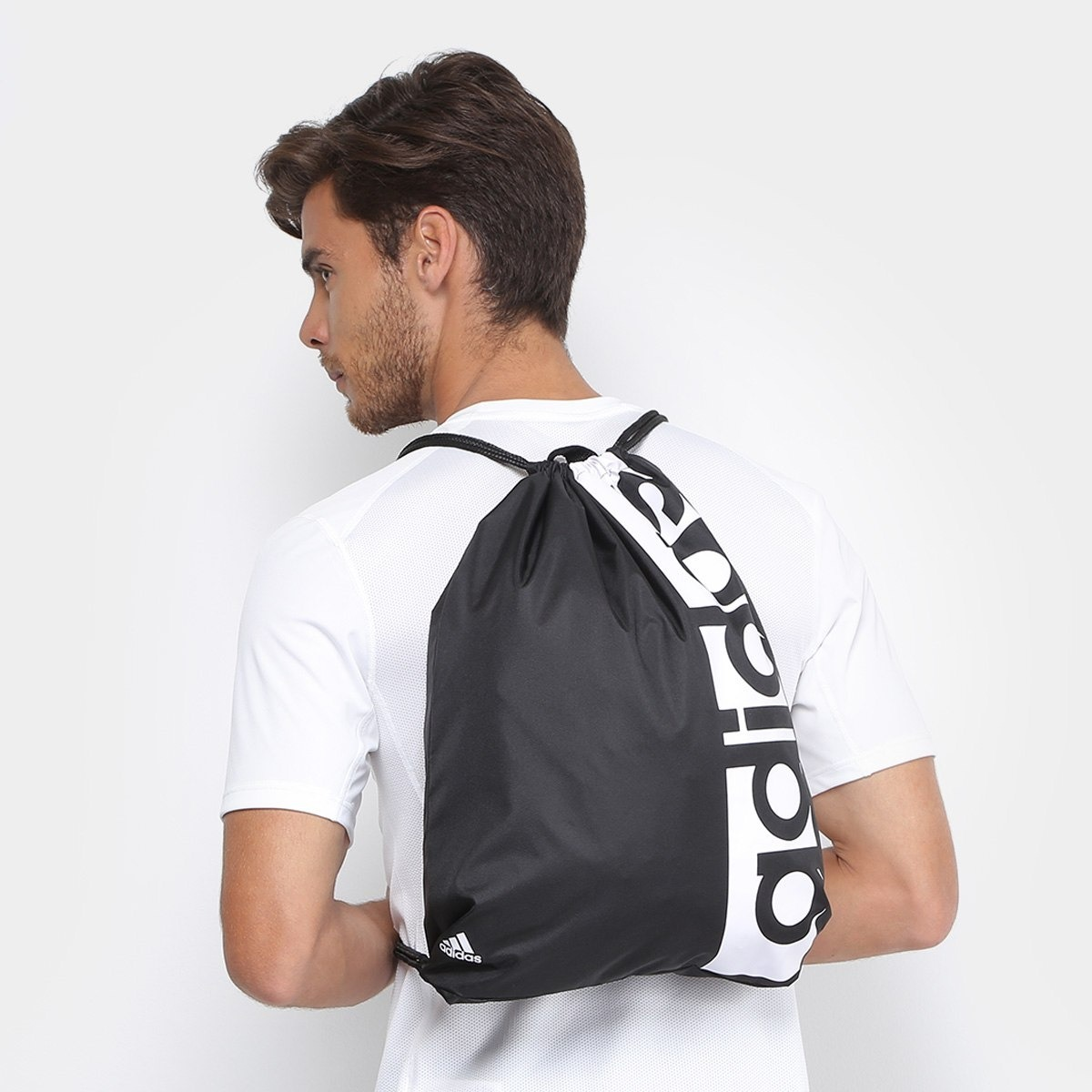 ad3e31d9 Bolsa Sacola adidas Gym Bag Linear Performance - R$ 56,90 em Mercado ...