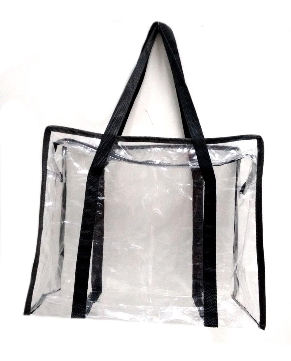 564f36821 bolsa sacola em pvc cristal transparente jumbo média. Carregando zoom.
