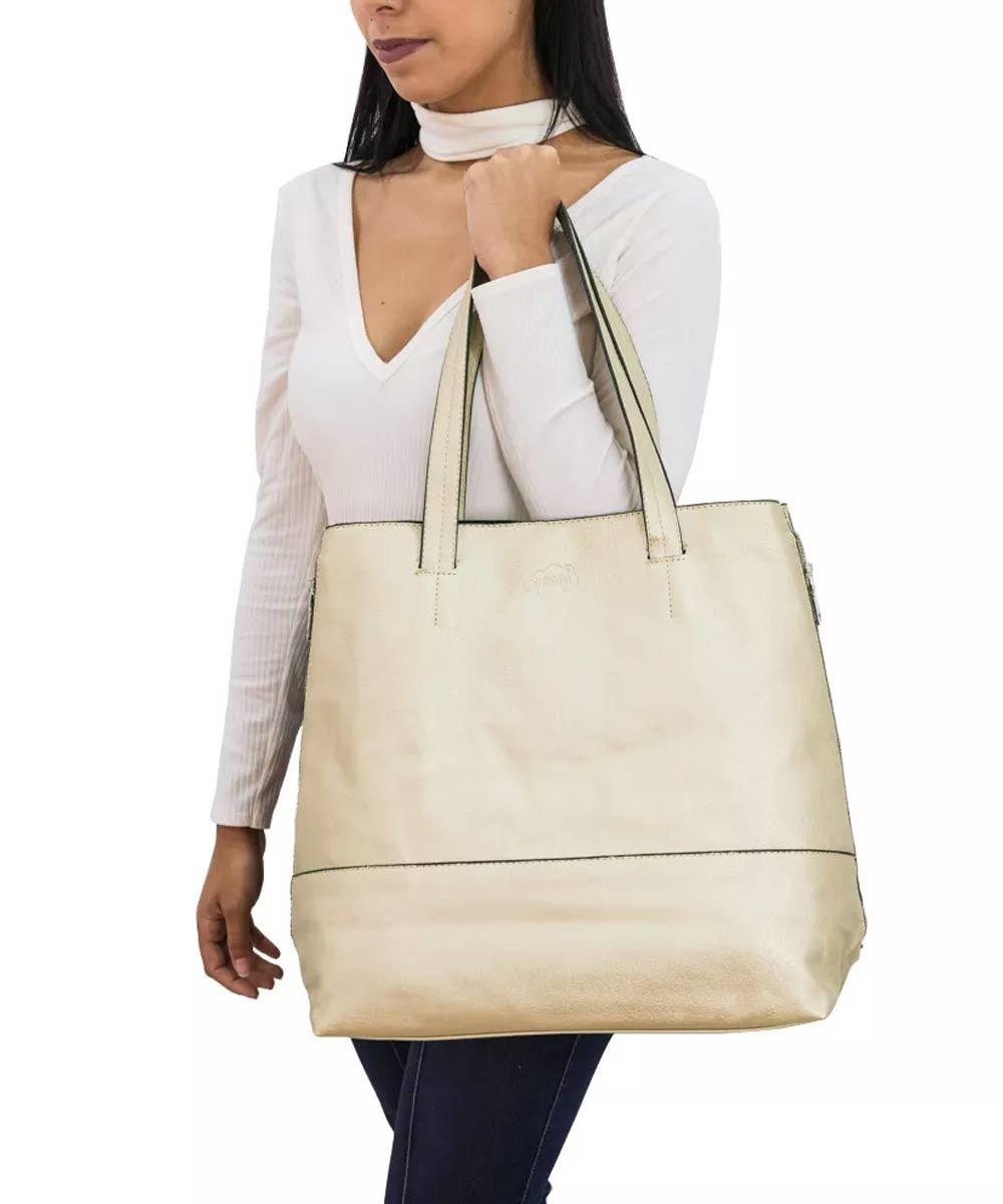 447623545 Bolsa Sacola Feminina Estilo Dourada Oumai - R$ 130,00 em Mercado Livre