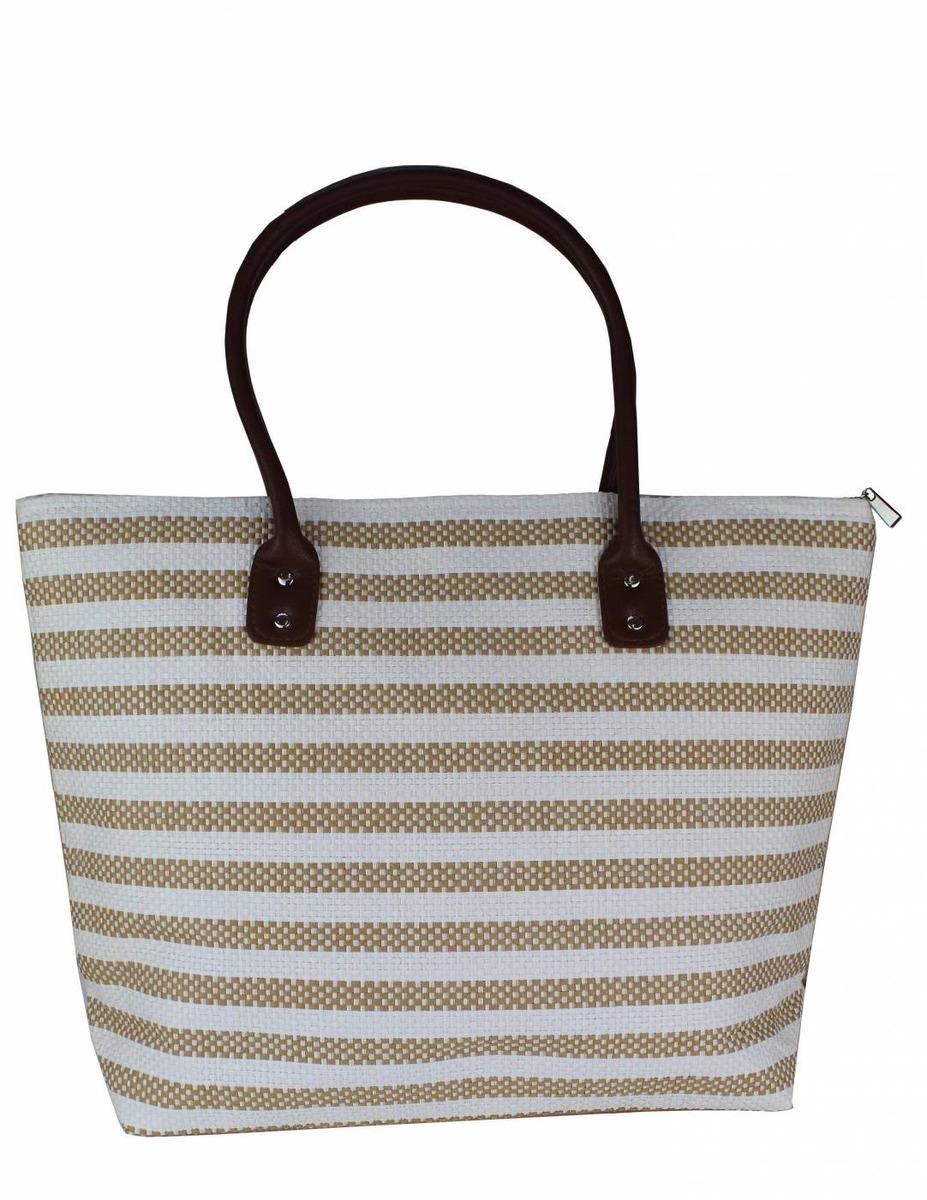 d69513fa9 Bolsa Sacola Feminina Moda Praia Listrada Bege - R$ 58,50 em Mercado ...