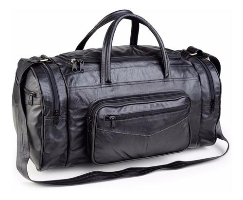 bolsa sacola mala de viagem em couro legítimo de búfalo