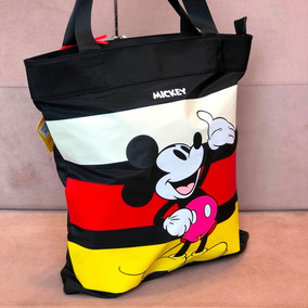 ce3ad4e97 Bolsa Sacola Mickey E Minnie - Bolsas Femininas Preto no Mercado ...
