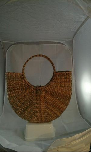 bolsa sacola palha taboa feira praia gg 44 x 33 x 10 c/botão