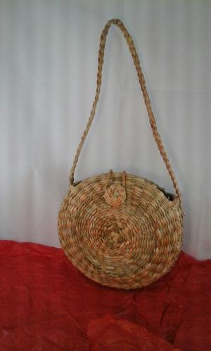 bolsa sacola palha taboa feira praia redonda