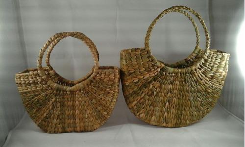 bolsa / sacola taboa 1 meia lua média de 30 cm ou 1 de 33 cm
