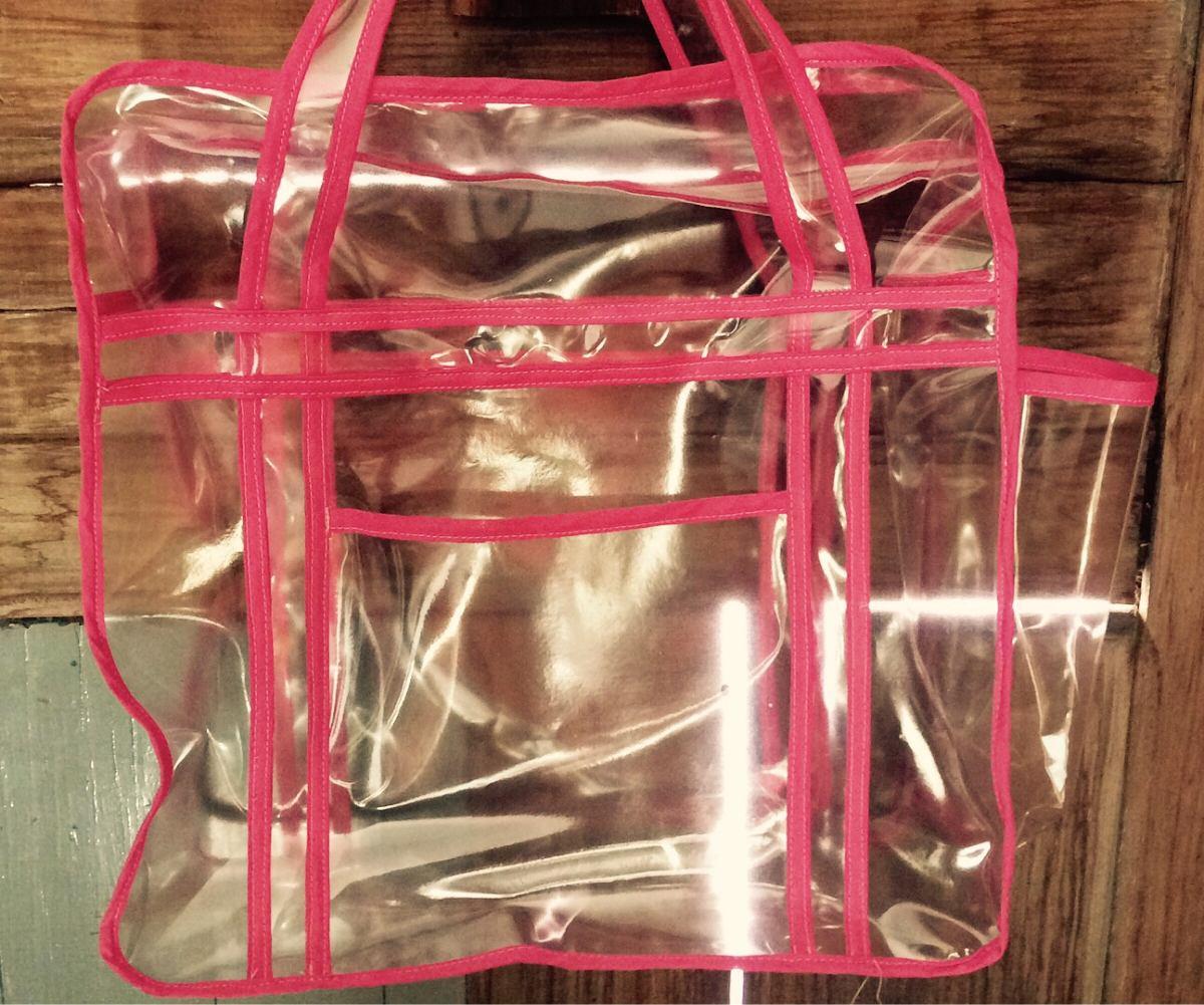 4f146a196 Bolsa Sacola Transparente Jumbo Cdp - R$ 33,00 em Mercado Livre