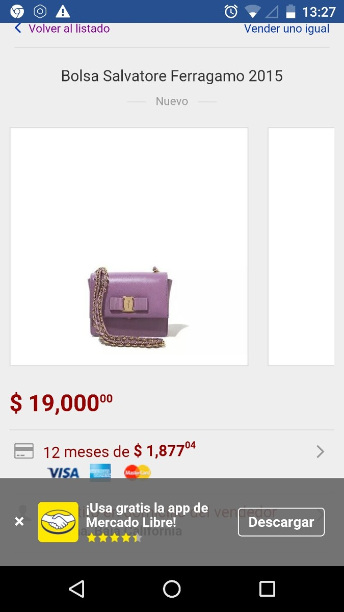 Bolsa Salvatore Ferragamo (nueva, Original 100%) -   18,000.00 en ... b57f4bd5aa