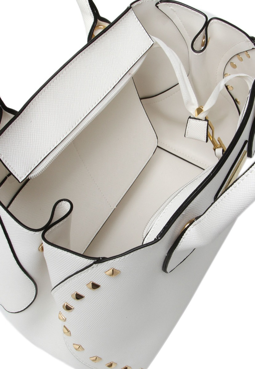 bolsa santa lolla com tachas douradas na cor branca - 1593. Carregando zoom. 4a852b771d5