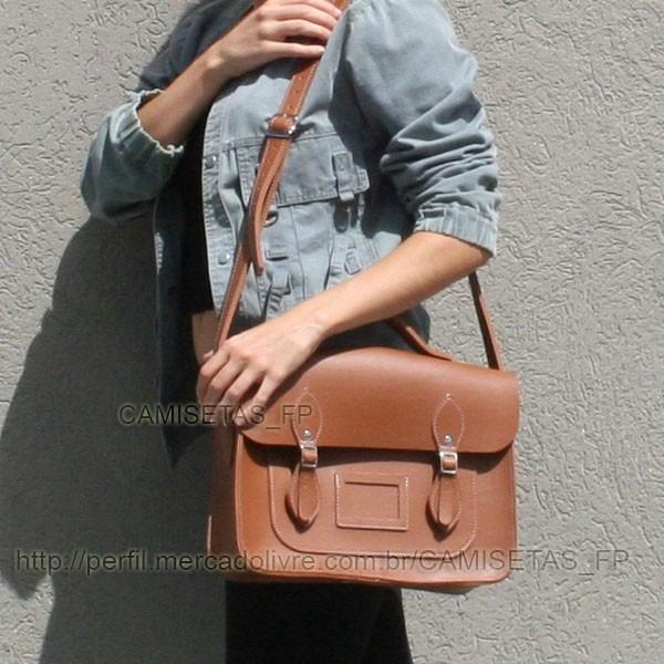 Bolsa Satchel Carteiro Design Retrô Vintage Estilo Tumblr - R  137 ... 5da2847e3d