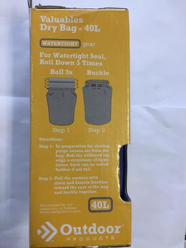bolsa seca impermeable contra agua 40 l outdoor 166 envio gr