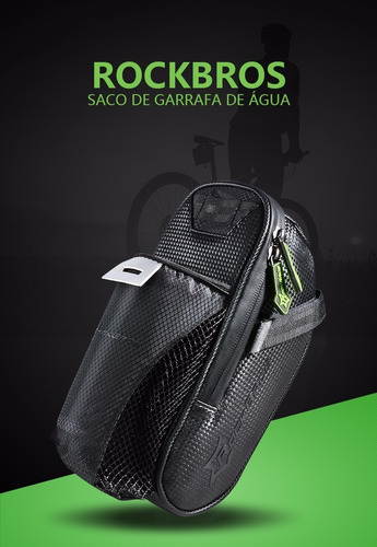 bolsa selim ciclismo bike rockbros + brinde frete gratis