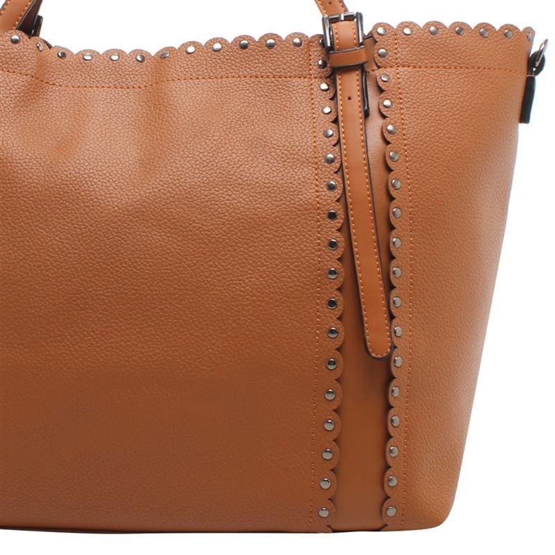 c7e88ecad Bolsa Shop Bag Detalhes Grafite - Biro - R$ 192,00 em Mercado Livre
