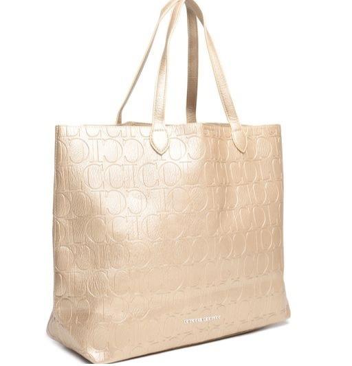06eceacc7 Bolsa Shopper Colcci Relevo Dourada - R$ 299,90 em Mercado Livre