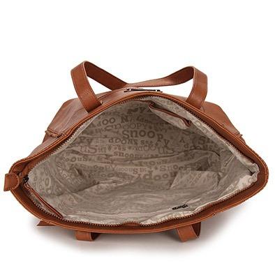 bolsa shopping bag snoopy - caramelo