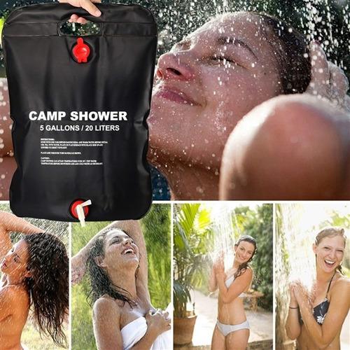 bolsa shower chuveiro camping ducha água quente 20 litros