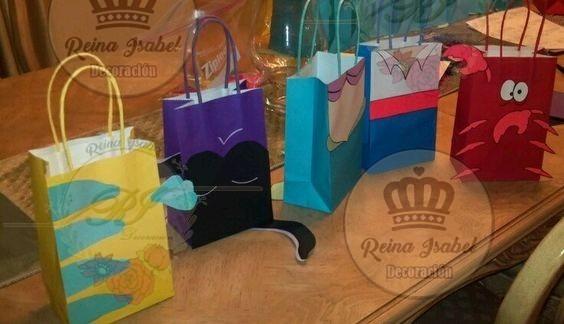 Bolsa Princesa Souvenirs Cumple Sirenita Bar Bautismo Candy dtsQhr