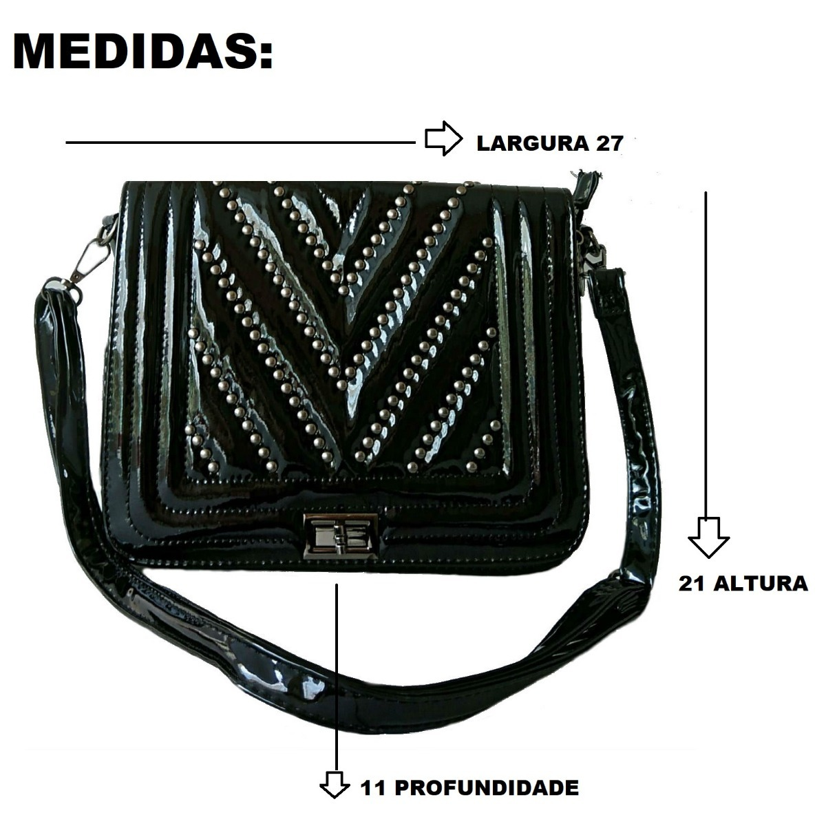 2b25f74af Bolsa Slim De Mão Alça Grande Carteira Tiracolo Linda Verniz - R$ 49 ...