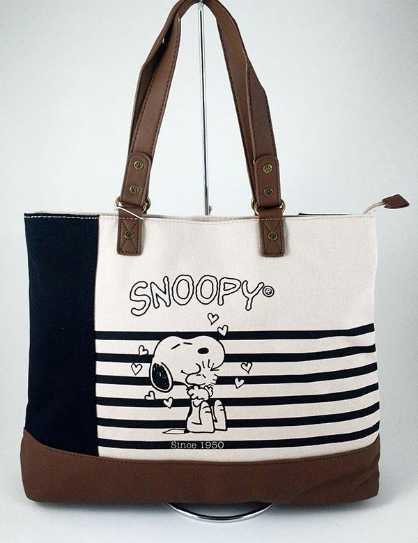 665747f7b Bolsa Snoopy Feminina Lona Friends Forever Sp1703 Brinde - R ...