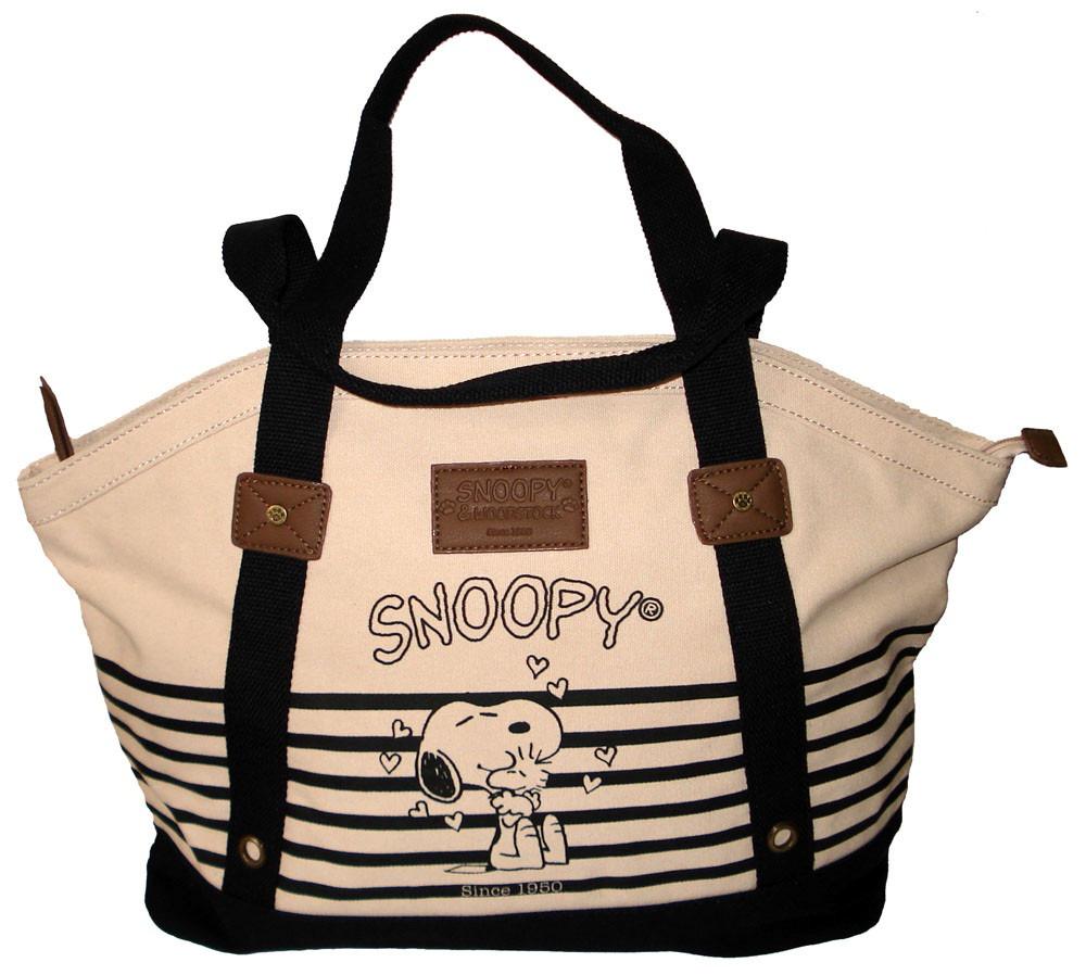f6e806356 Bolsa Snoopy - Sp1704 - Bege Com Preto - R$ 149,99 em Mercado Livre