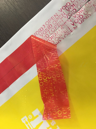 bolsa sobre de seguridad void p/envíos ecommerce 30x44cmx100
