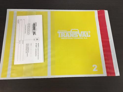 bolsa sobre de seguridad void p/envíos ecommerce 42x54cmx100