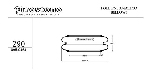 bolsa suspensor firestone fole pneumático truck carreta 7.14