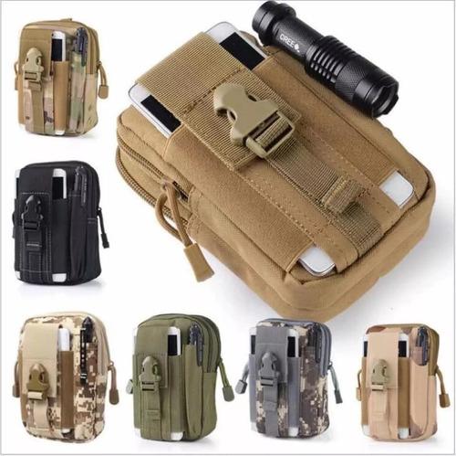 bolsa táctica militar para celular cámara sistema molle