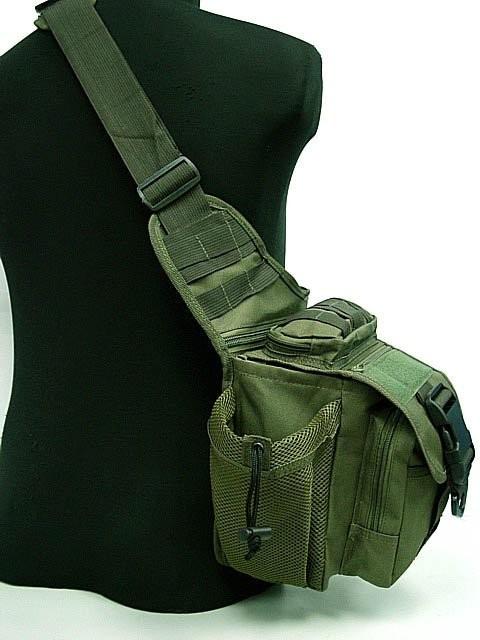 Bolsa De Ombro Transversal : Bolsa t?tica de ombro transversal bornal militar r