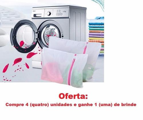 bolsa tela saco rede máquina lavar roupa compre 4 e ganhe 1