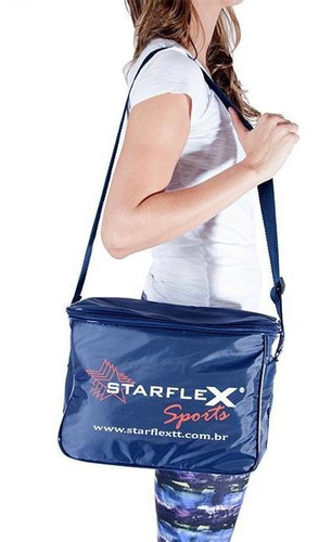 bolsa termica cooler azul - starflex - 6 marmitas