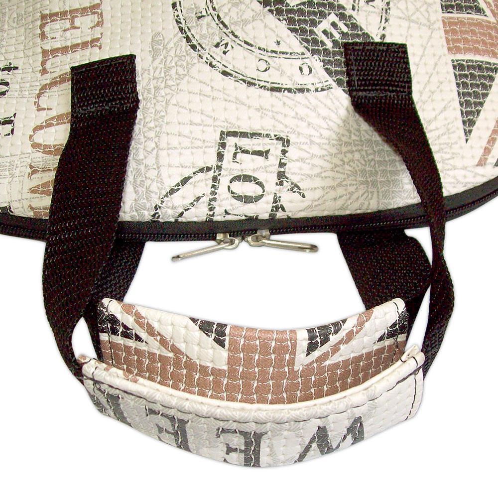 Bolsa Feminina Com Compartimento Para Marmita : Bolsa t?rmica feminina london white para lanches e marmita
