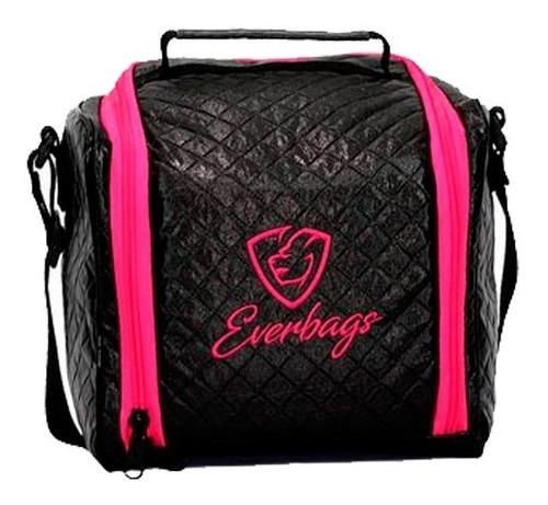 bolsa térmica fitness feminina rosa academia lancheira