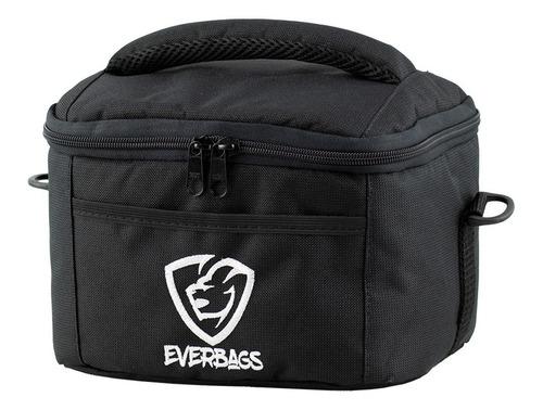 bolsa térmica fitness marmita lancheira preta fit