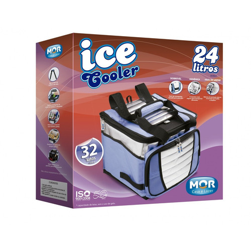 bolsa térmica ice cooler mor dobravel capacidade 24 litros