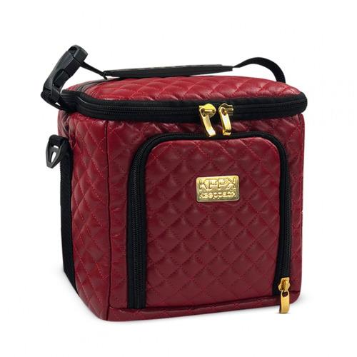 bolsa térmica keeppack mid matelassê vermelha + kit kp00019