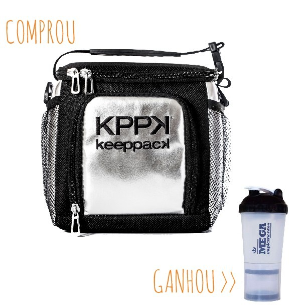 98374895f Bolsa Térmica Keeppack Mid - Prata - R$ 219,90 em Mercado Livre