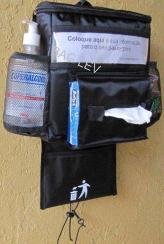 bolsa térmica p carro+porta lenços+lixeira+2gelogel bag lev