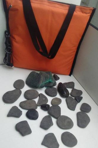 bolsa térmica para piedras volcánicas, 12 piedras