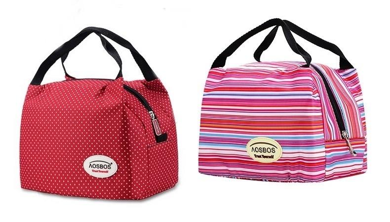 Bolsa Feminina Com Compartimento Para Marmita : Bolsa t?rmica pequena feminina para marmita pr?tica r