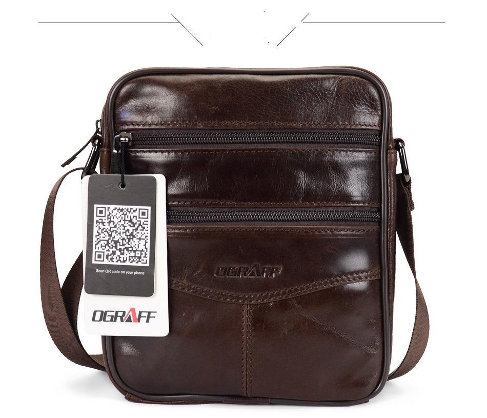 011202447 bolsa tiracolo - couro bovino - cor marrom - masculino. Carregando zoom.